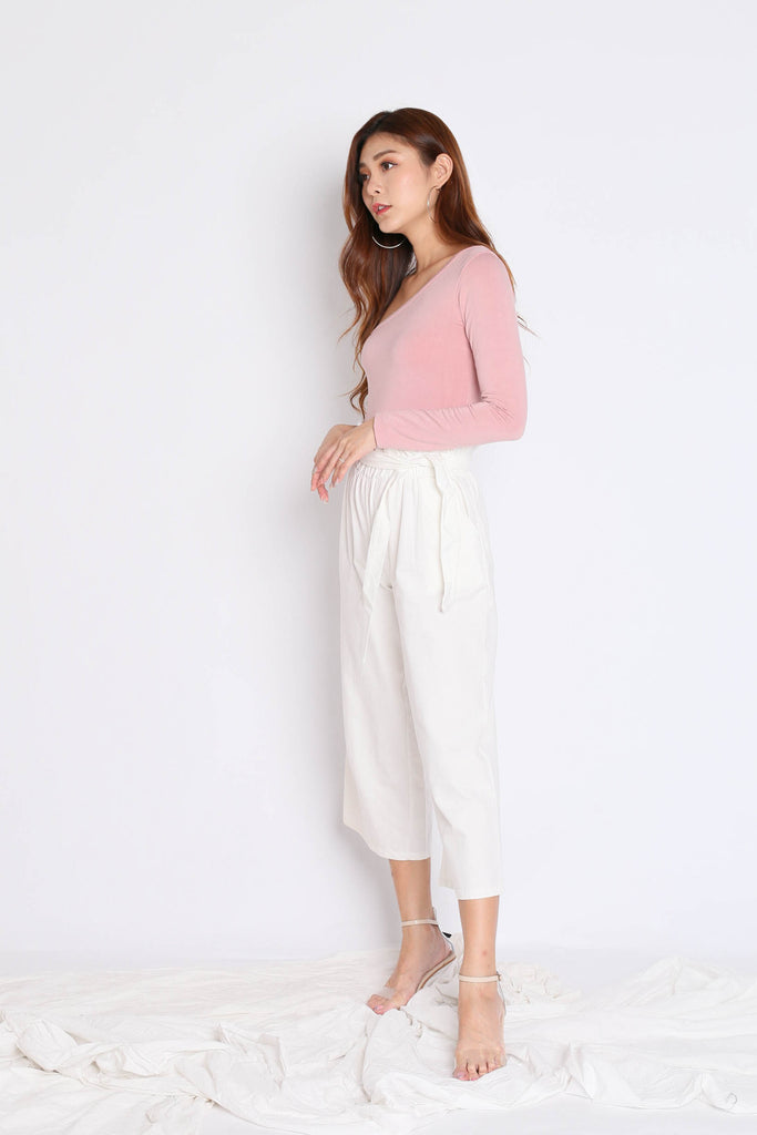 TOGA LONG SLEEVES TOP IN DUSTY PINK - TOPAZETTE