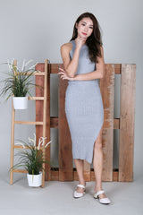 MADDOX KNIT MAXI IN GREY