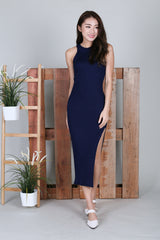 MADDOX KNIT MAXI IN NAVY