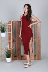 MADDOX KNIT MAXI IN WINE