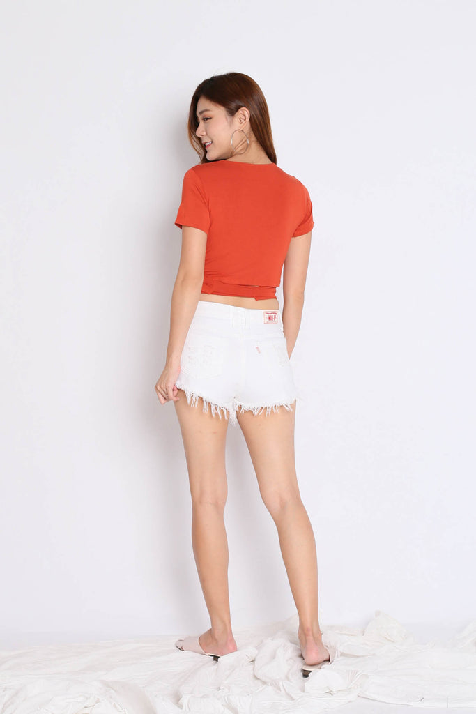 WRAP ME UP TOP IN TANGERINE - TOPAZETTE