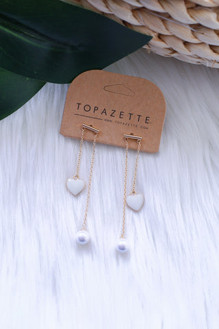*RESTOCKED* HEARTS AND PEARLS EARRINGS (WHITE)