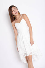 (PREMIUM) LOVRYN LACE DRESS IN WHITE