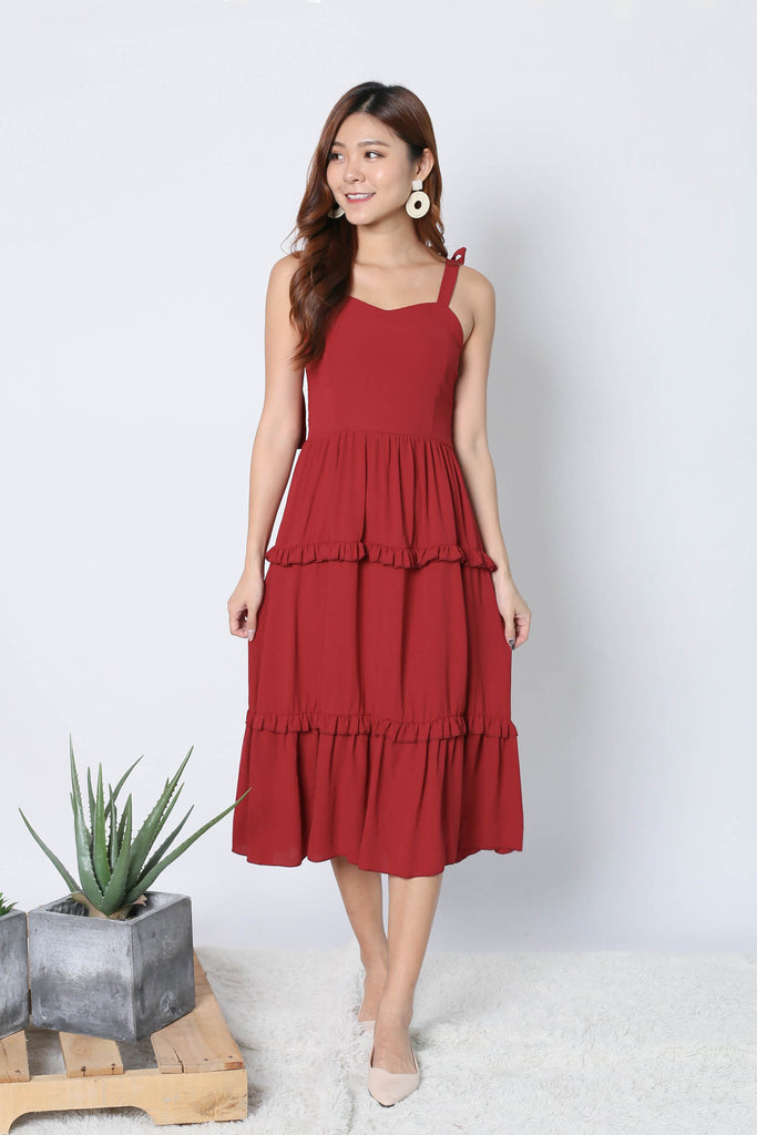 KISSA DRESS IN WINE