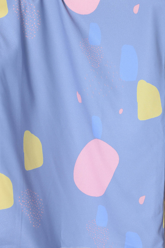 *TPZ* (PREMIUM) RERLY KIMONO ABSTRACT JACKET IN BLUE - TOPAZETTE