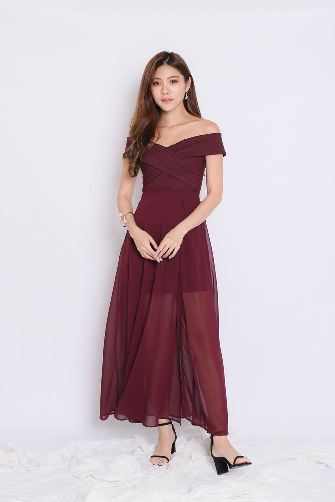 *TPZ* (PREMIUM) EDITH CROSSOVER MAXI IN PLUM - TOPAZETTE