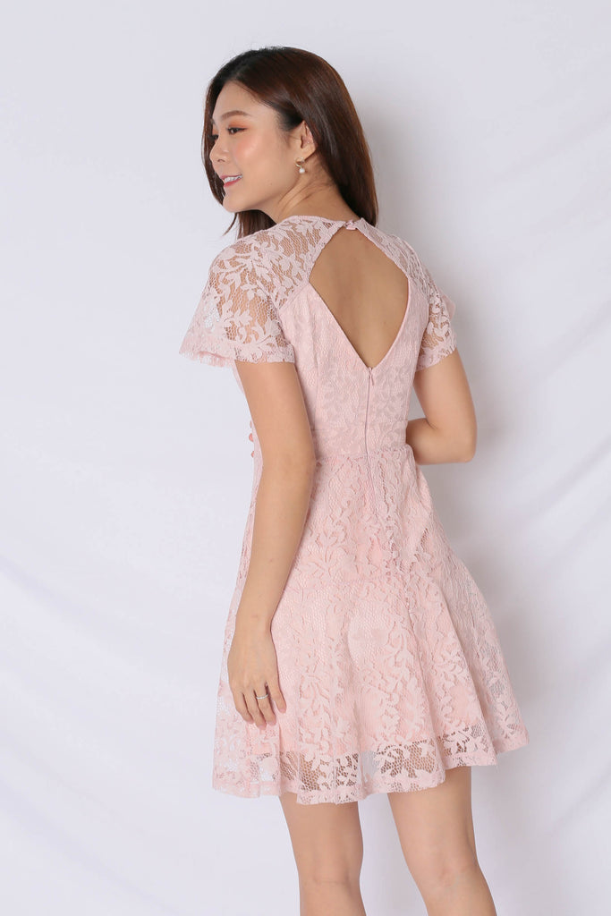 *TPZ* (PREMIUM) ALYTON LACE DRESS IN DUSTY PINK - TOPAZETTE