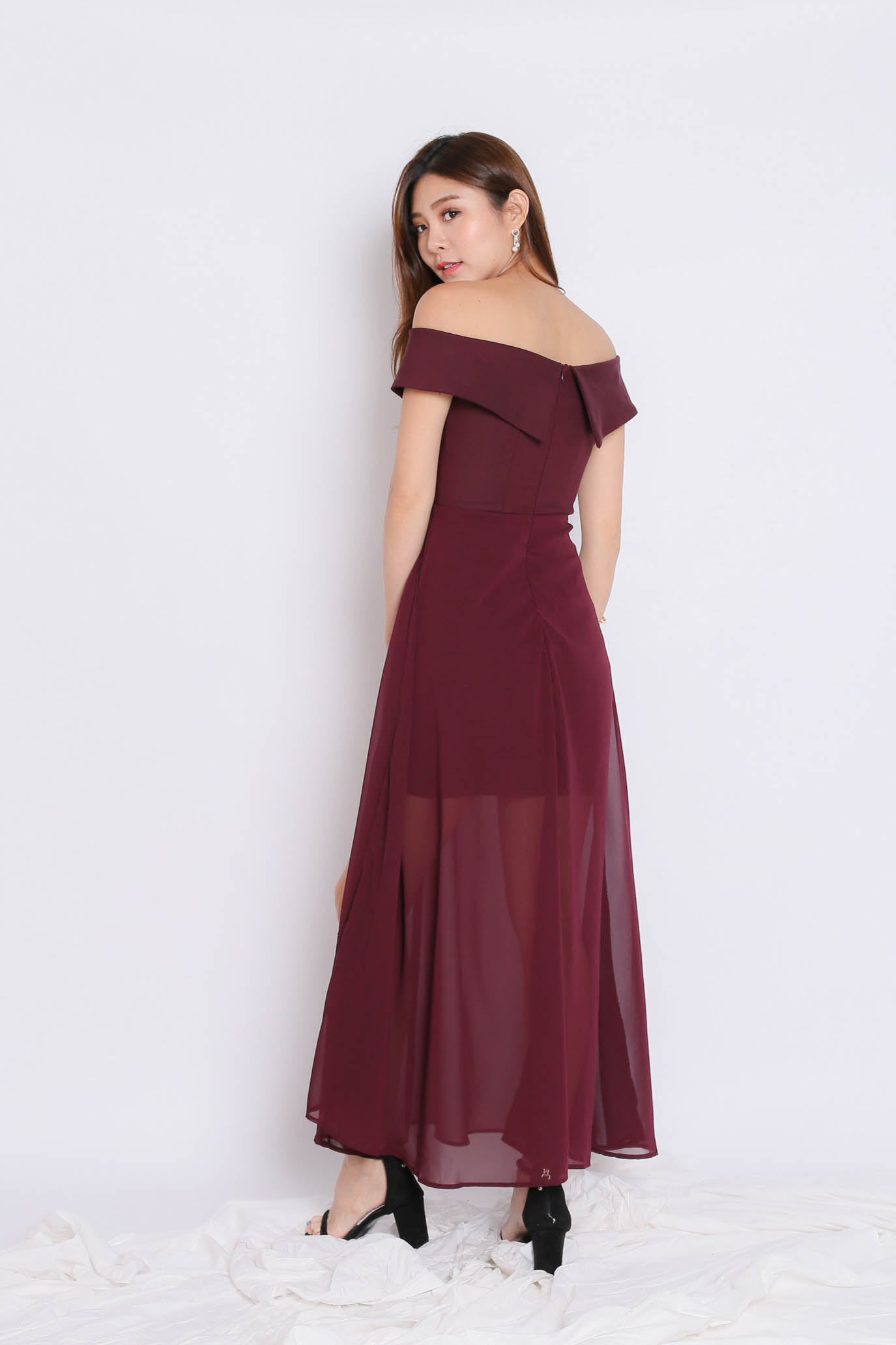 *TPZ* (PREMIUM) EDITH CROSSOVER MAXI IN PLUM