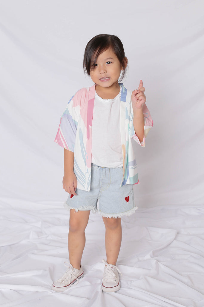 *LITTLE TOPAZETTE* VINN ABSTRACT KIMONO JACKET (VERSION 1) - TOPAZETTE