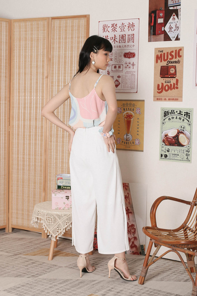 *TPZ* CARLA SIDE ZIP PANTS IN WHITE