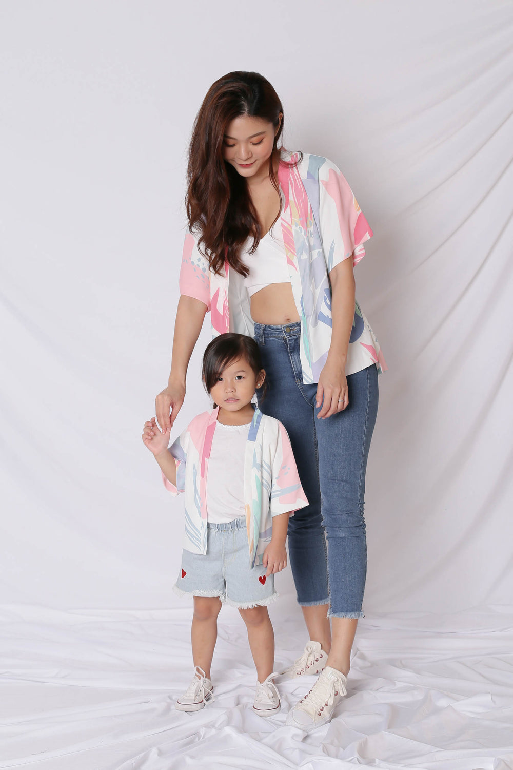 *LITTLE TOPAZETTE* VINN ABSTRACT KIMONO JACKET (VERSION 1)