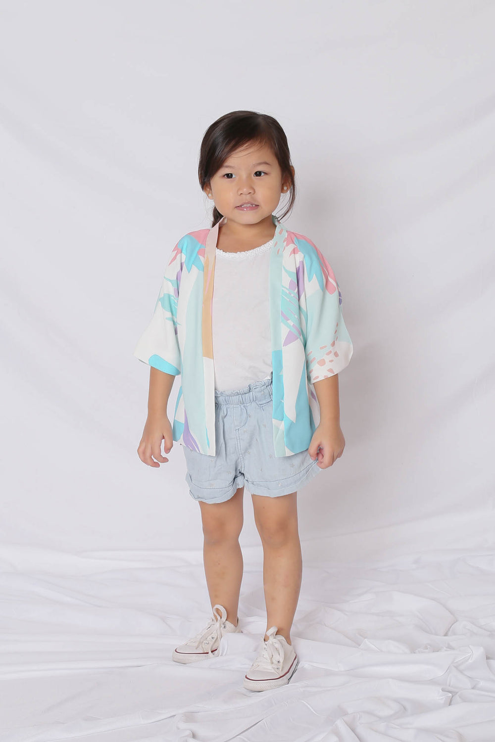 *LITTLE TOPAZETTE* VINN ABSTRACT KIMONO JACKET (VERSION 2)