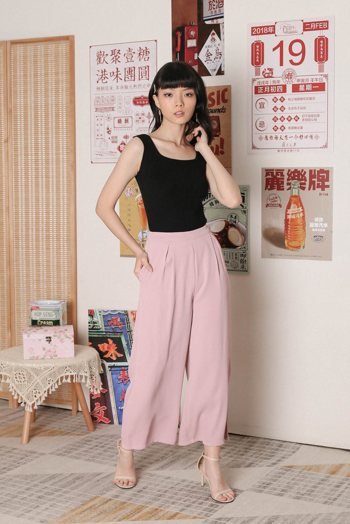*TPZ* CARLA SIDE ZIP PANTS IN DUSTY PINK