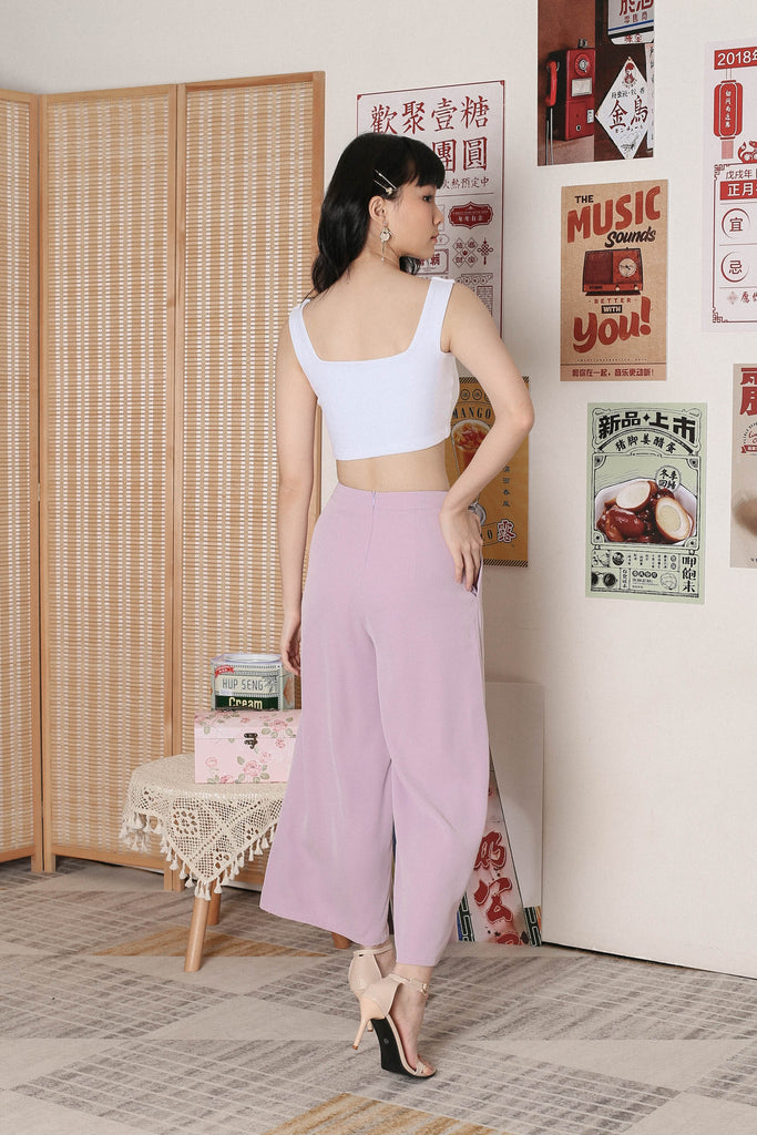 *TPZ* CARLA SIDE ZIP PANTS IN LILAC