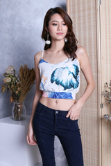 XIA WATERCOLOUR FLORAL TOP