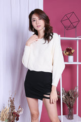 KYLIE SOFT KNIT TOP IN CREAM
