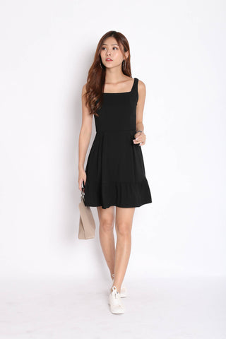*TPZ* (PREMIUM) QUEZZA SKATER DRESS IN BLACK