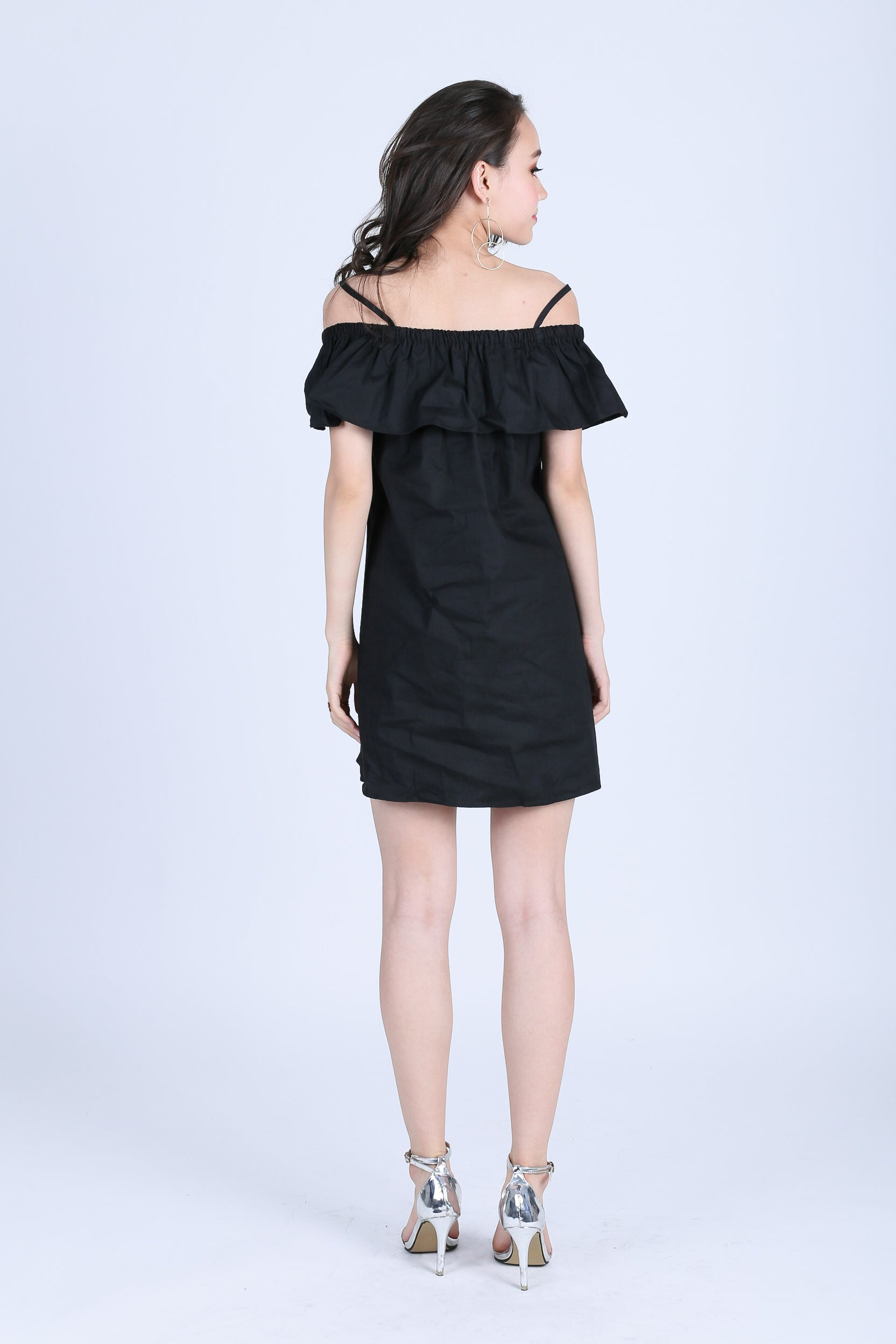 ADLEY EMBROIDERY DRESS IN BLACK
