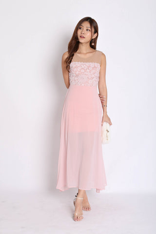 *TPZ* (PREMIUM) UTOPIA MESH CROCHET MAXI IN DUSTY PINK