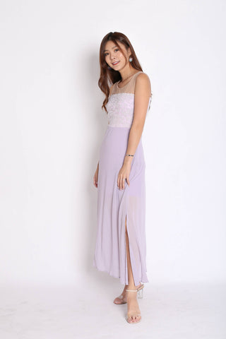 *TPZ* (PREMIUM) UTOPIA MESH CROCHET MAXI IN DUSTY LILAC