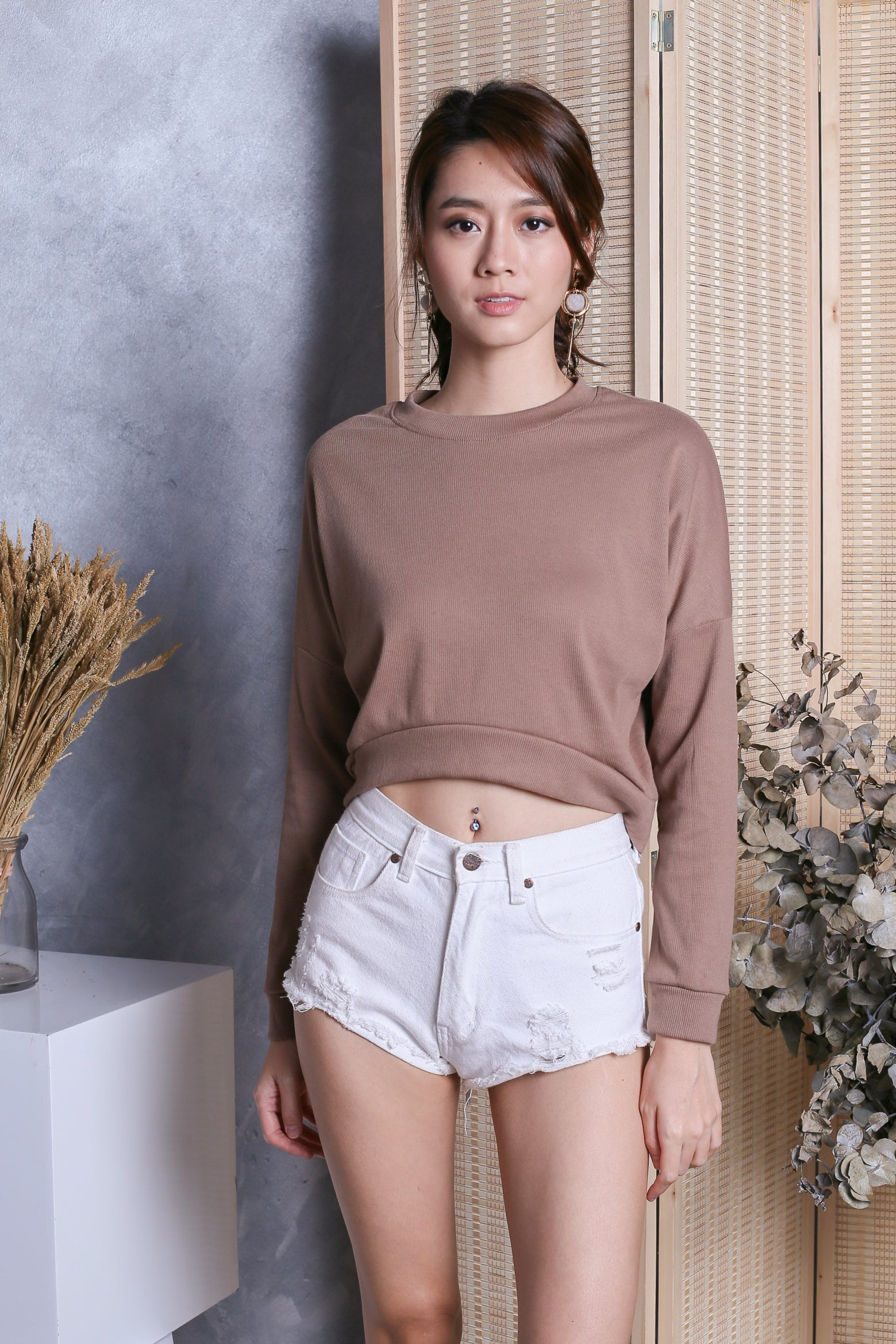 ERYX PULLOVER IN TOFFEE