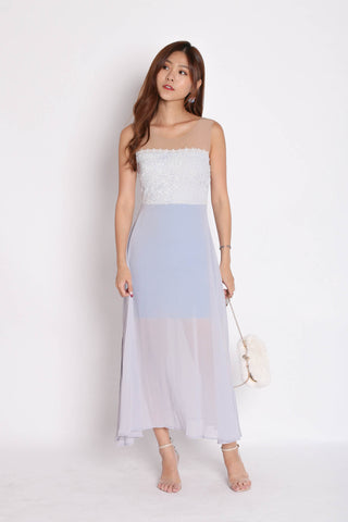 *TPZ* (PREMIUM) UTOPIA MESH CROCHET MAXI IN DUSTY BLUE