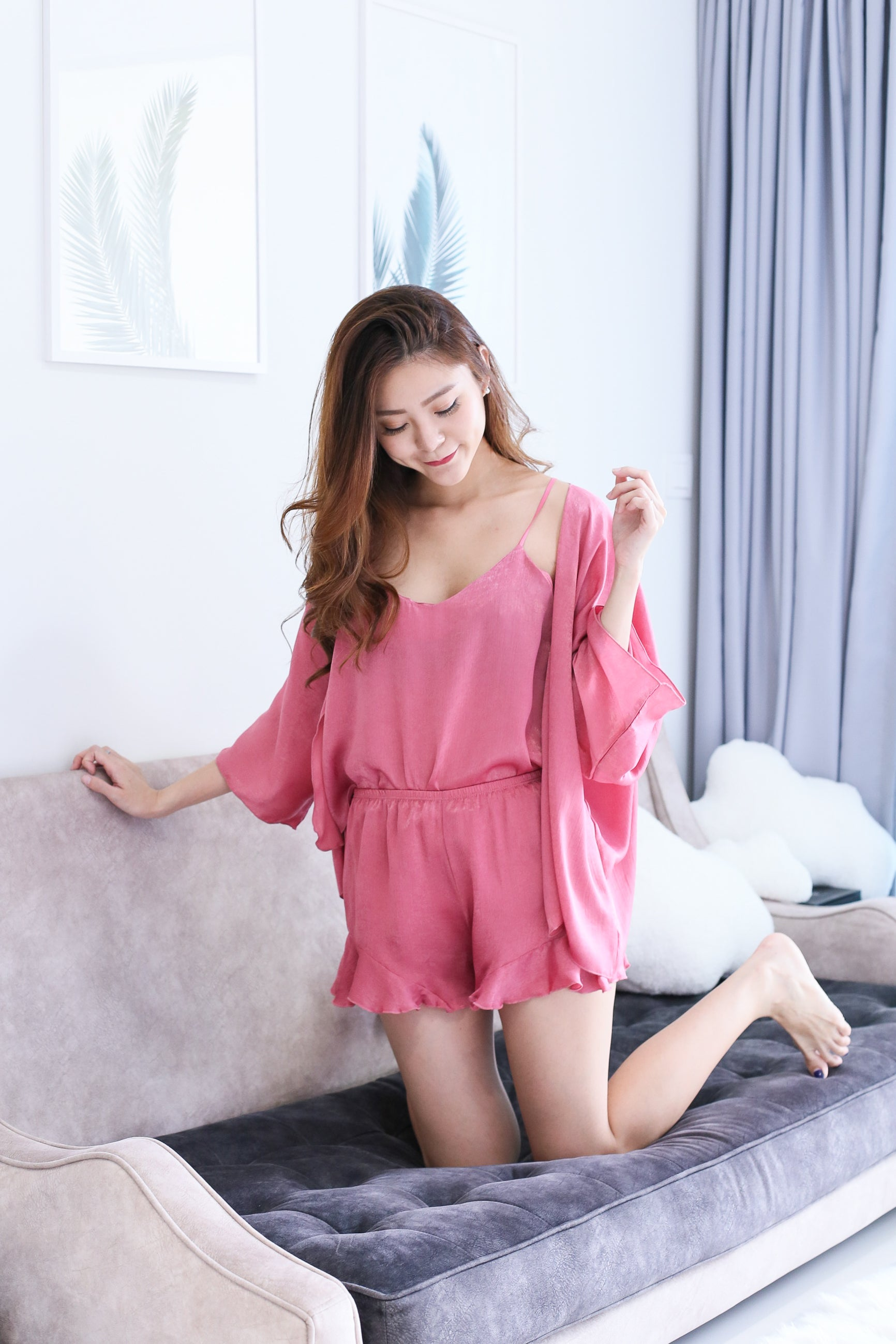 *BACKORDER* VICTORIA 3 PC SLEEPWEAR SET IN CANDY PINK