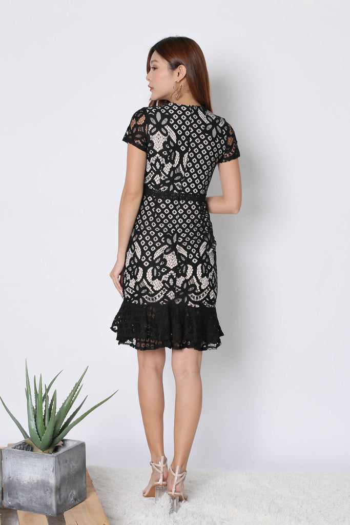 *TPZ* (PREMIUM) MERLIZ CROCHET LACE DRESS IN BLACK - TOPAZETTE