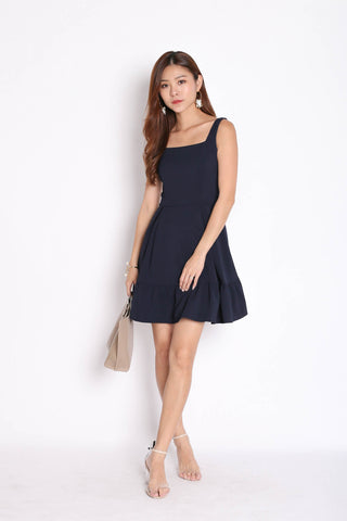*TPZ* (PREMIUM) QUEZZA SKATER DRESS IN NAVY