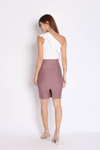 CLASSIC BODYCON SKIRT IN MAUVE