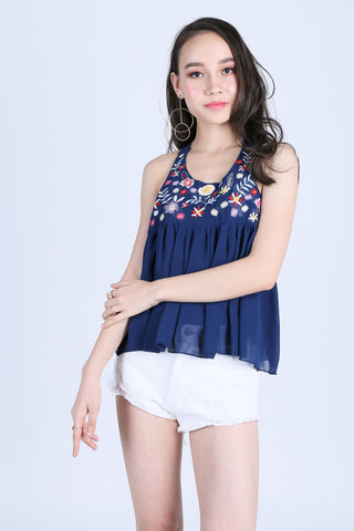 62ea82c050970a ZENIA EMBROIDERY TOP IN NAVY