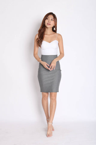 CLASSIC BODYCON SKIRT IN GREY