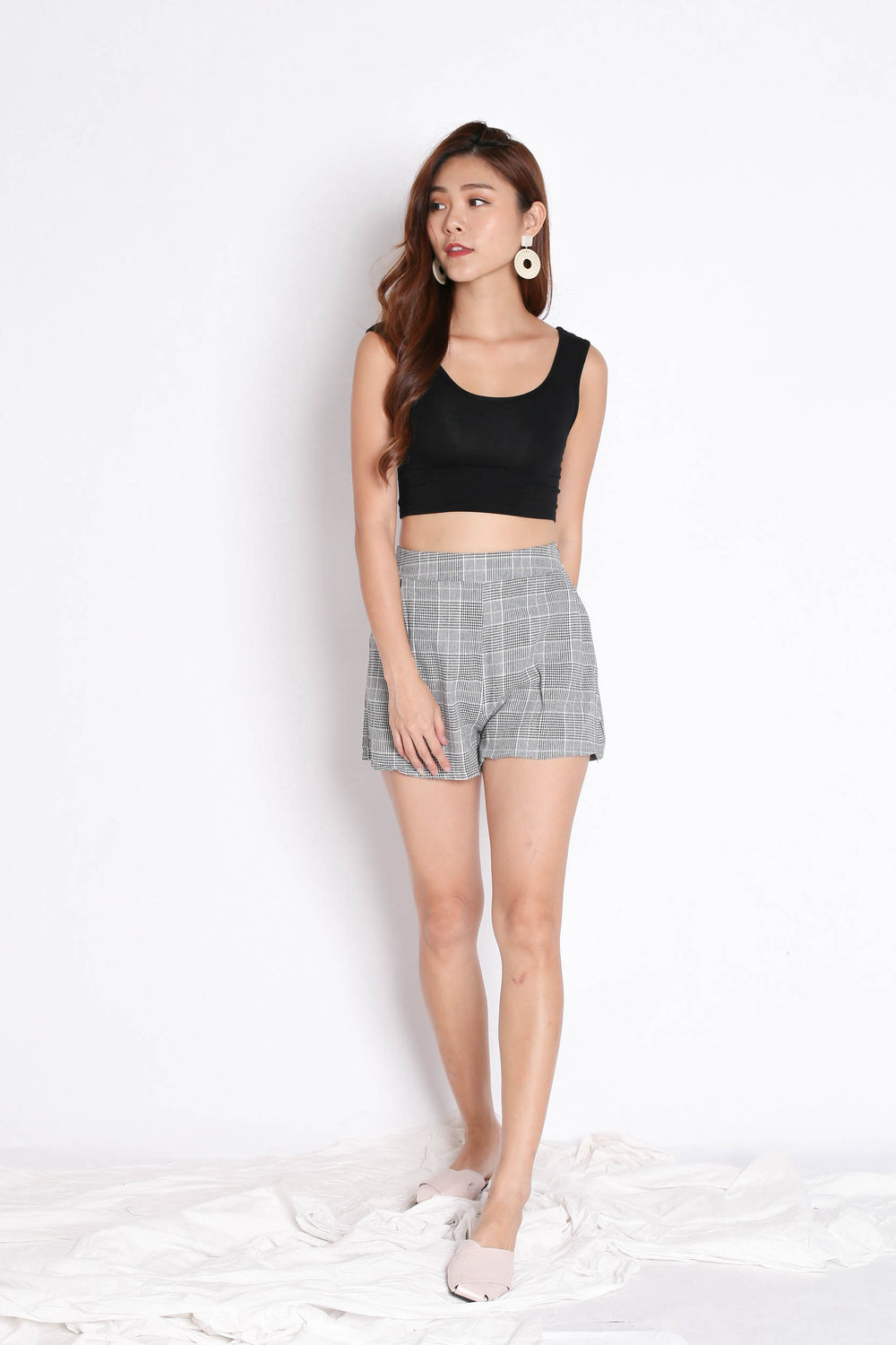 STELLIZ BLAZER AND SHORTS SET IN GINGHAM
