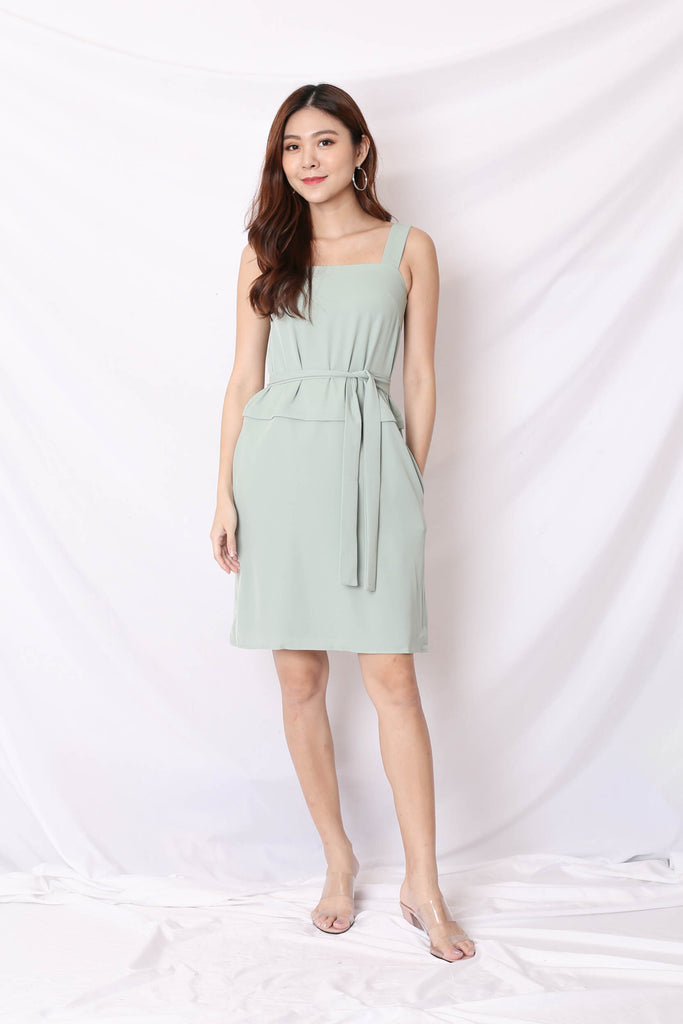 *TPZ* (PREMIUM) CELIA ZIPPER TOP AND DRESS IN SAGE GREEN