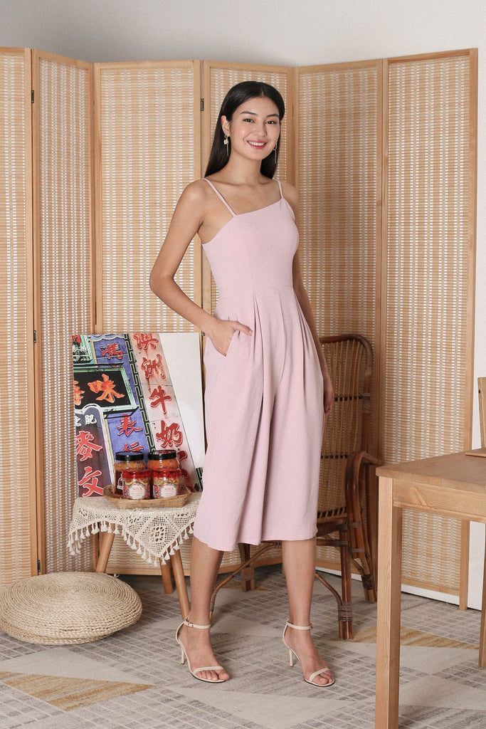 *TPZ* (PREMIUM) OLINDA TOGA JUMPSUIT IN DUSTY PINK