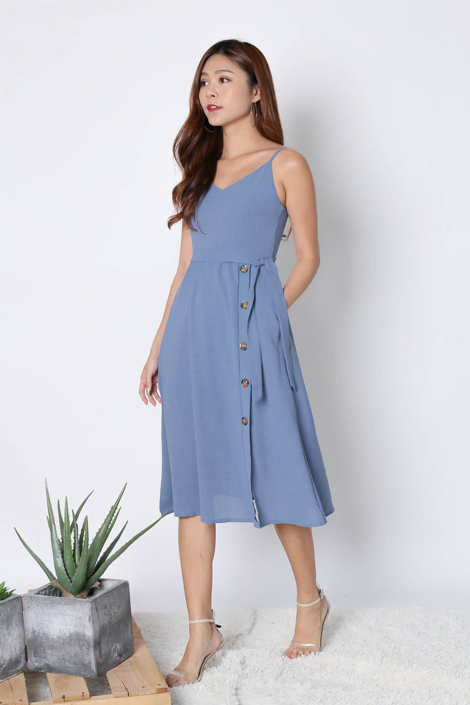 *TPZ* (PREMIUM) CLAUDIA DRESS IN CORNFLOWER BLUE