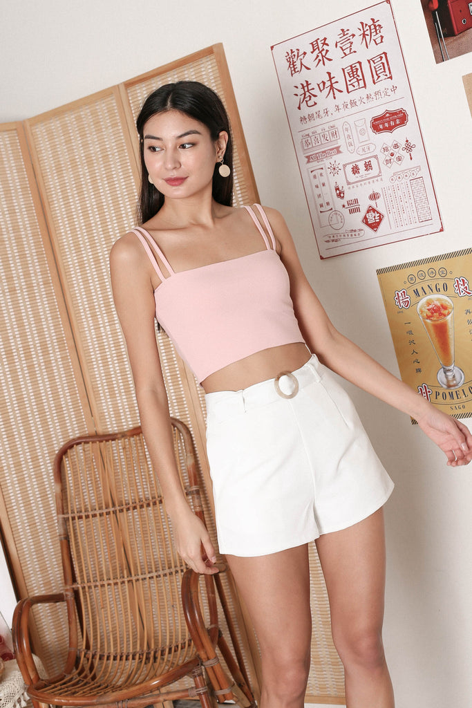 *TPZ* ZAELYN 2 WAY STRAP TOP IN BABY PINK