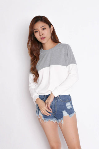 PASTEL PULLOVER (GREY/ WHITE)