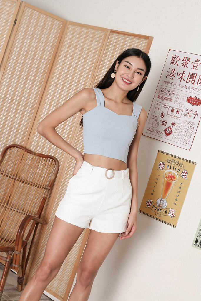 *TPZ* ALYZA CROP TOP IN BABY BLUE