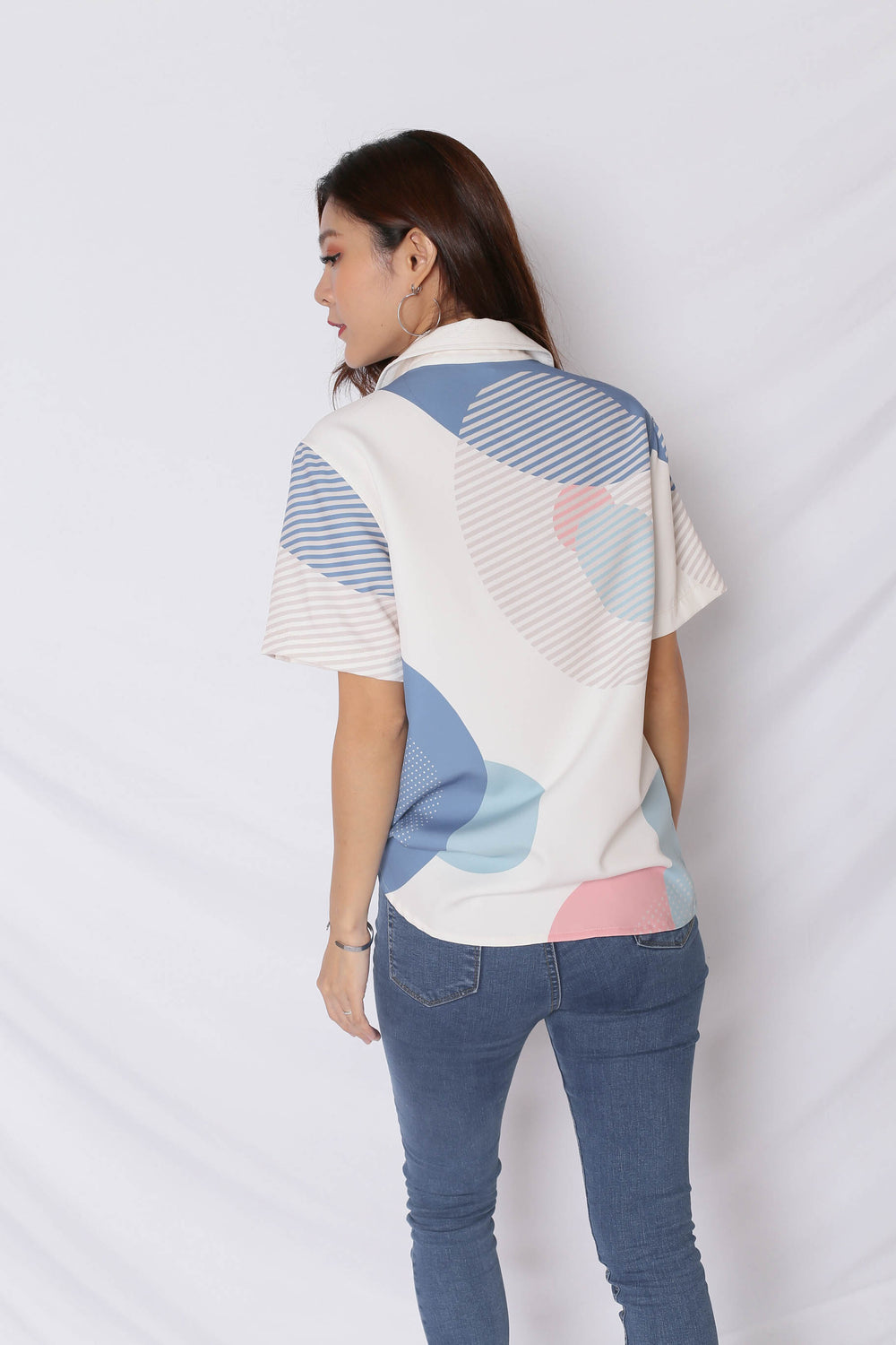 (PREMIUM) THE GEOMETRIC COLLECTION UNISEX SHIRT (VERSION 2) PINK/ BLUE