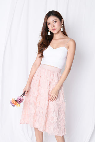 *BACKORDER* ANDRELA FEATHER SKIRT IN DUSTY PINK