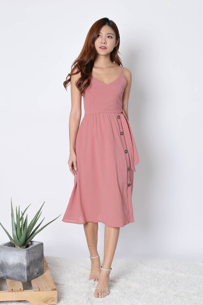 *TPZ* (PREMIUM) CLAUDIA DRESS IN POWDER PINK