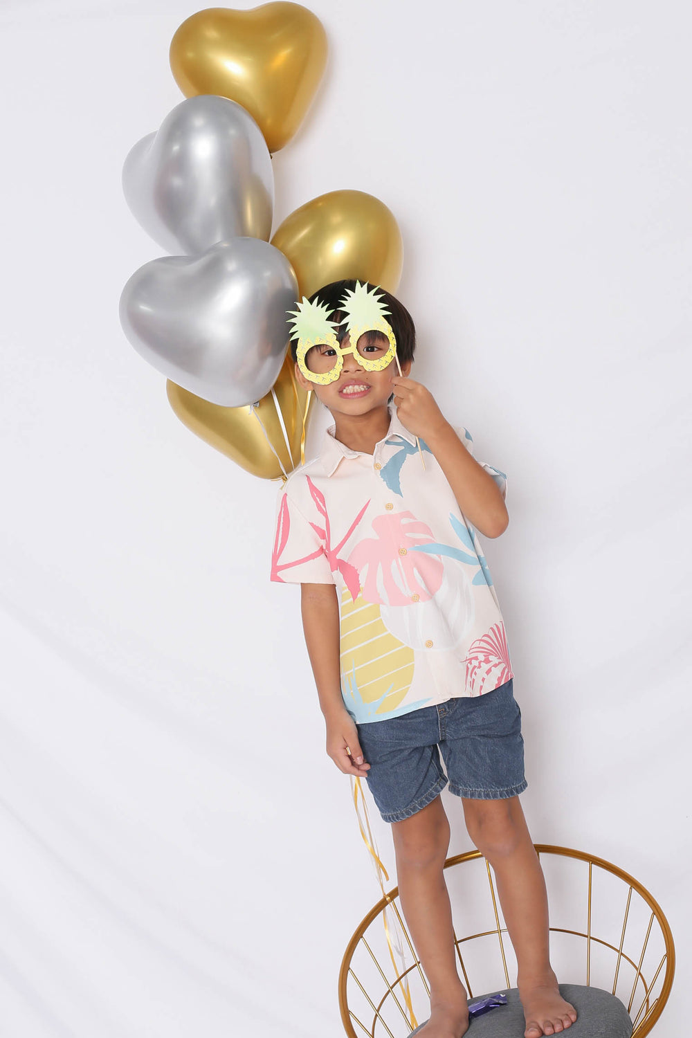 *LITTLE TOPAZETTE* ALOHA UNISEX SHIRT IN CREAM