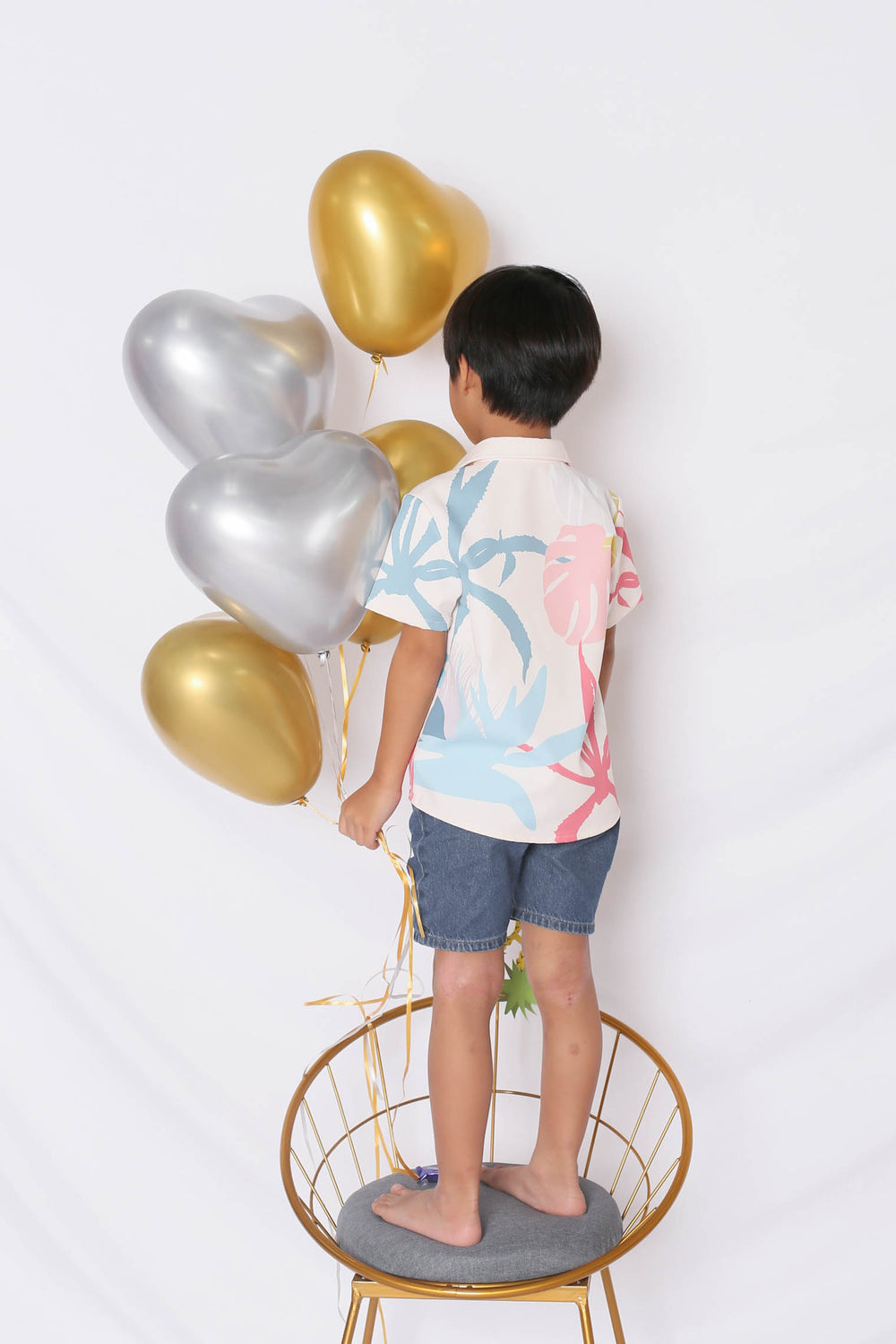 *LITTLE TOPAZETTE* ALOHA UNISEX SHIRT IN CREAM - TOPAZETTE