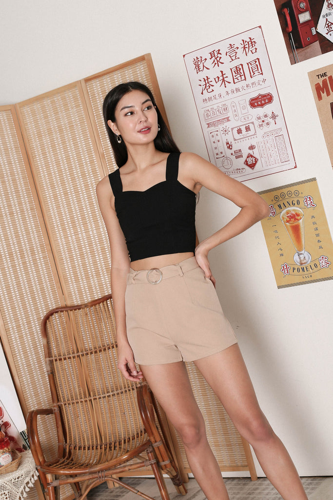 *TPZ* ALYZA CROP TOP IN BLACK