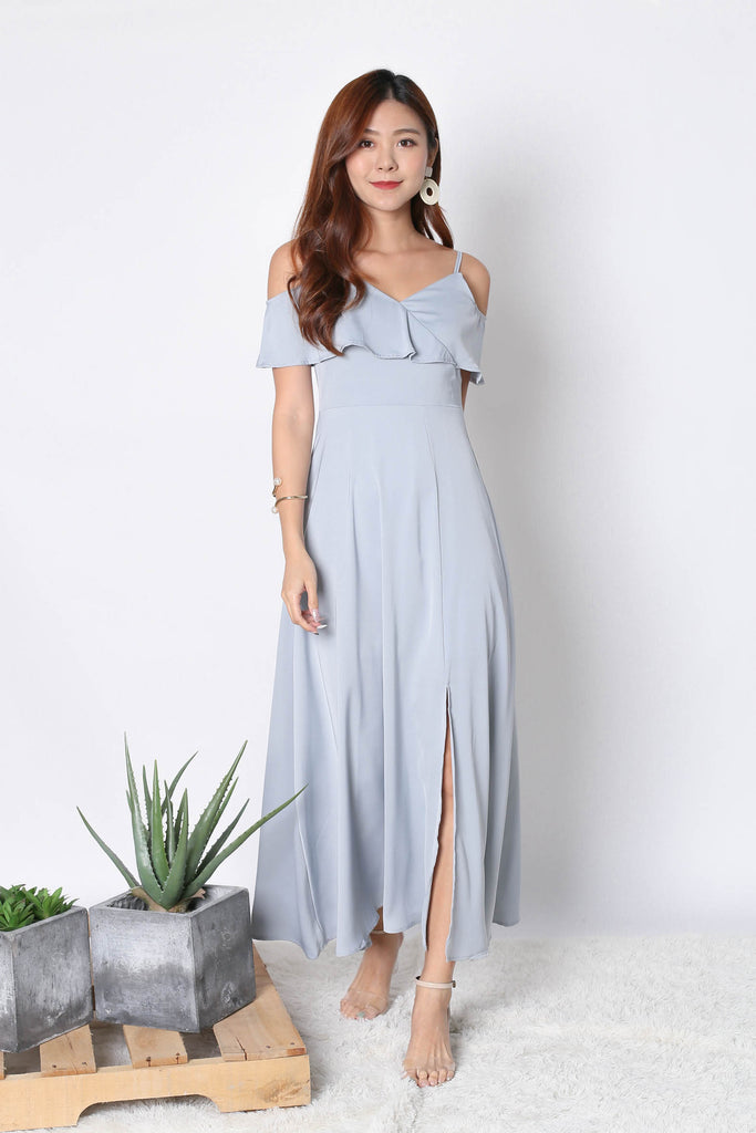 *TPZ* (PREMIUM) MAIZIE MAXI DRESS IN GREYISH BLUE
