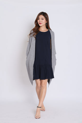 PAVER SOFT KNIT CARDIGAN IN GREY