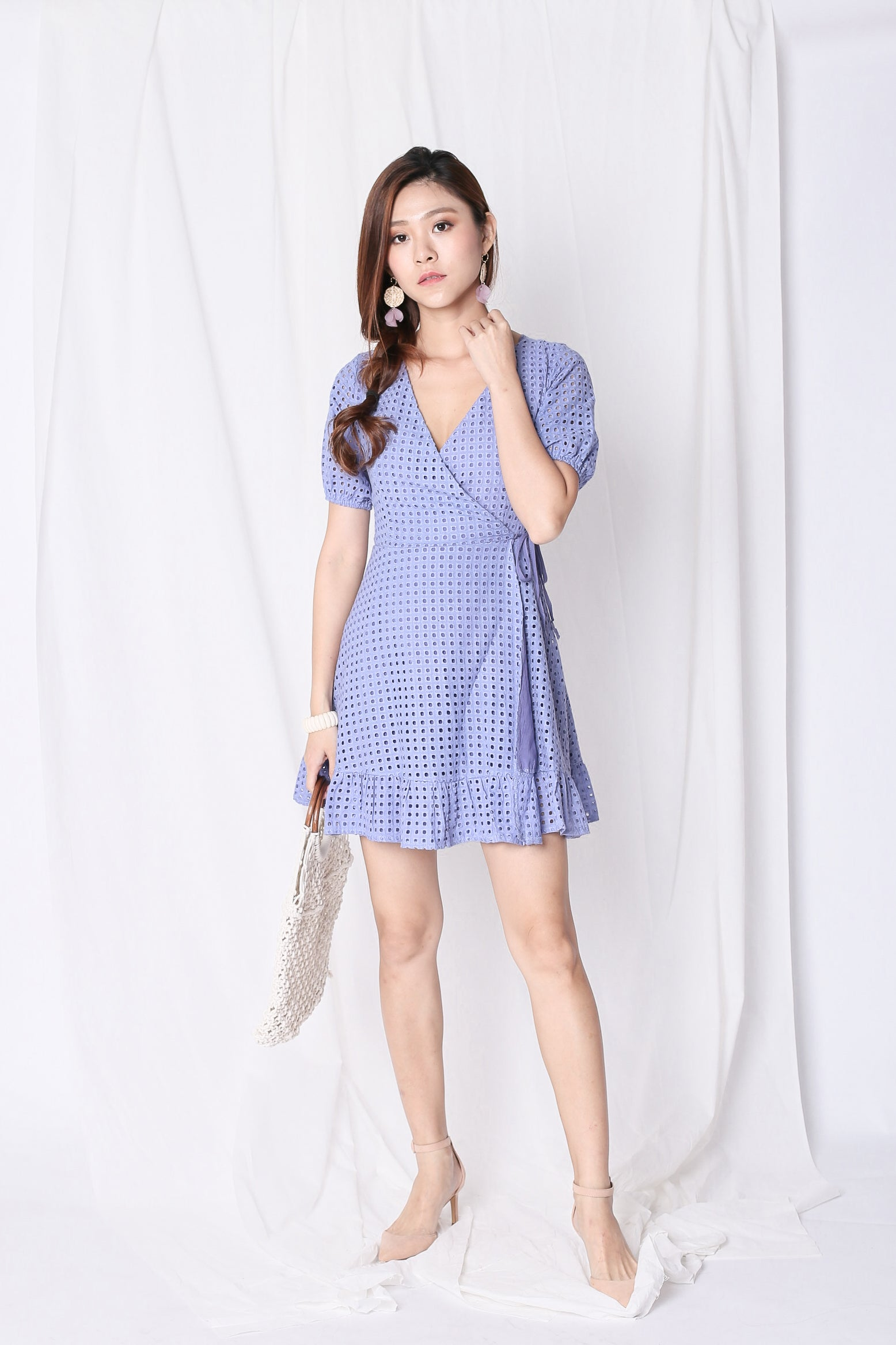 2f9f375a5d PREMIUM) WILLA EYELET WRAP DRESS IN PERIWINKLE – TOPAZETTE