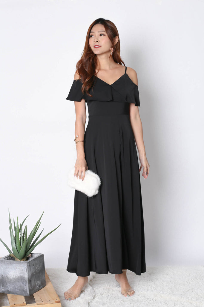 *TPZ* (PREMIUM) MAIZIE MAXI DRESS IN BLACK - TOPAZETTE