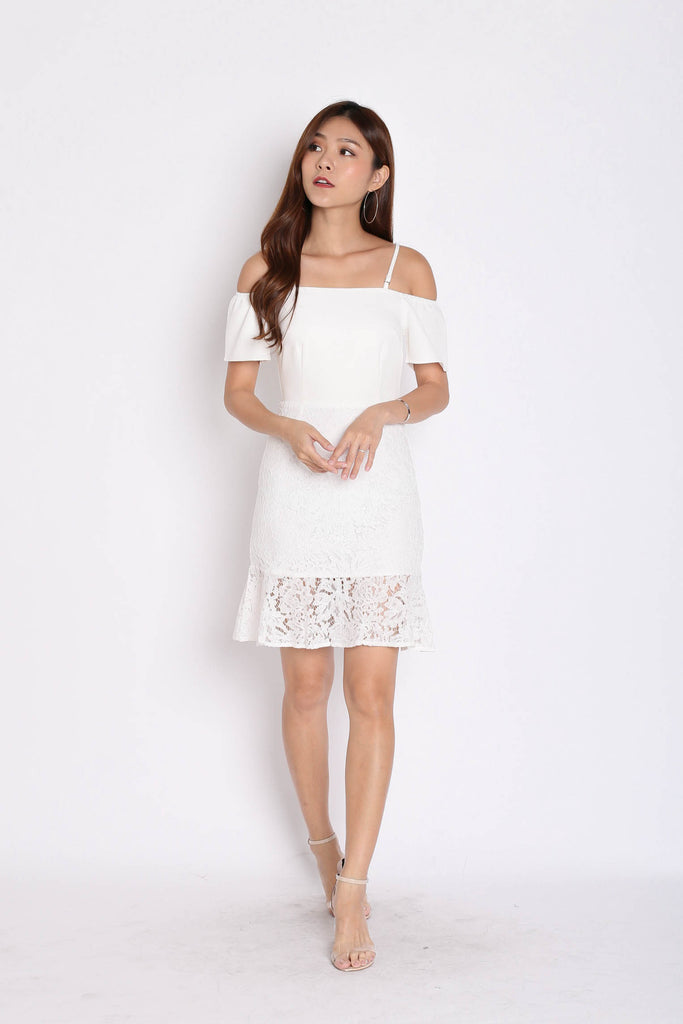 *TPZ* (PREMIUM) YVETTA LACE DRESS IN WHITE - TOPAZETTE